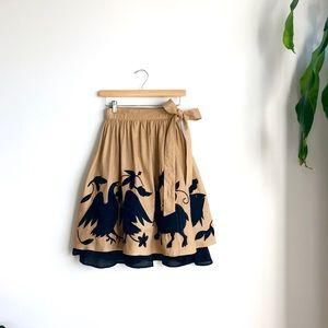 Kate Spade ♠️ Folk Embroidered Wrap Skirt
